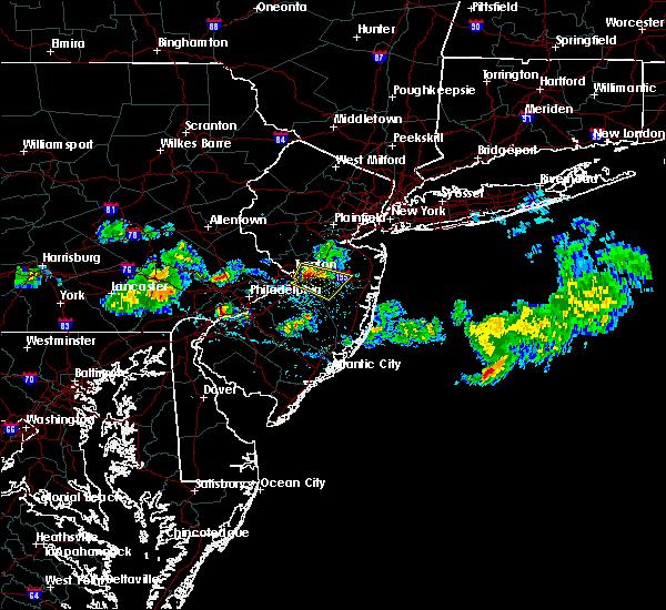 Radar Image for Severe Thunderstorms near Allentown, NJ at 4/26/2016 5:50 PM EDT
