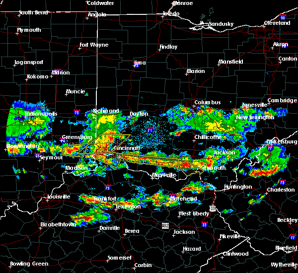 Radar Image for Severe Thunderstorms near Cincinnati, OH at 4/26/2016 7:12 PM EDT