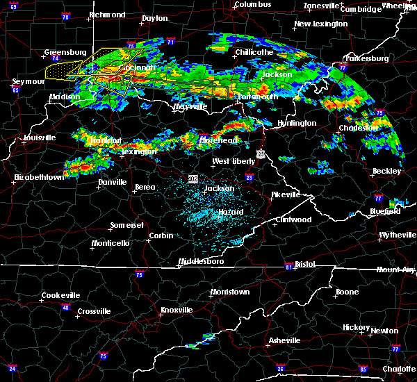 Radar Image for Severe Thunderstorms near Morehead, KY at 4/26/2016 7:20 PM EDT