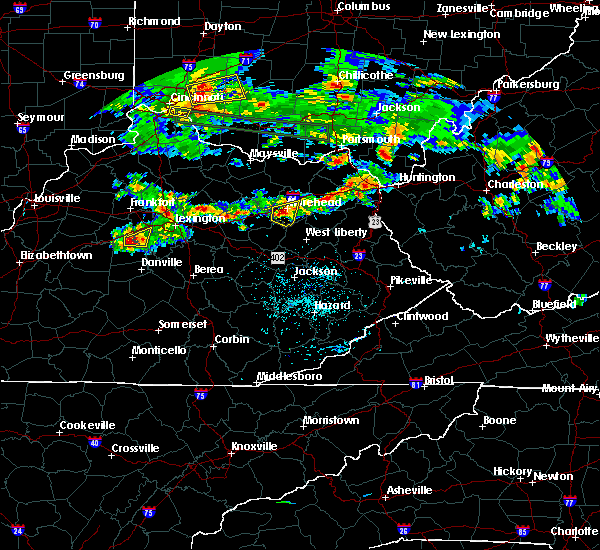 Radar Image for Severe Thunderstorms near Morehead, KY at 4/26/2016 7:42 PM EDT