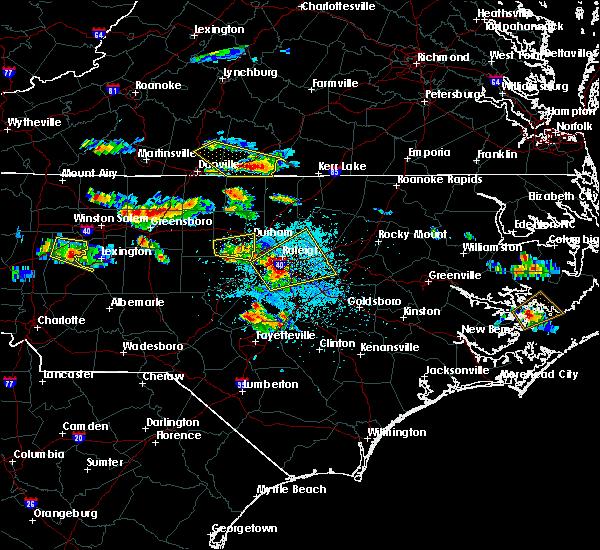Radar Image for Severe Thunderstorms near Virgilina, VA at 4/28/2016 5:36 PM EDT