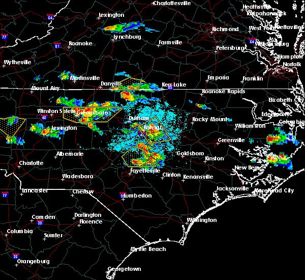 Radar Image for Severe Thunderstorms near Virgilina, VA at 4/28/2016 6:06 PM EDT
