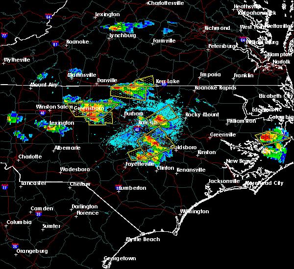 Radar Image for Severe Thunderstorms near Clarksville, VA at 4/28/2016 6:25 PM EDT