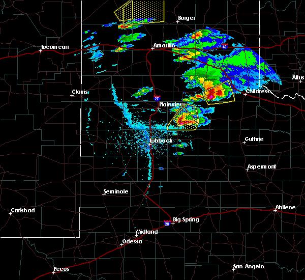Radar Image for Severe Thunderstorms near Floydada, TX at 4/28/2016 5:41 PM CDT