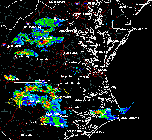 Radar Image for Severe Thunderstorms near Halifax, NC at 4/28/2016 7:12 PM EDT