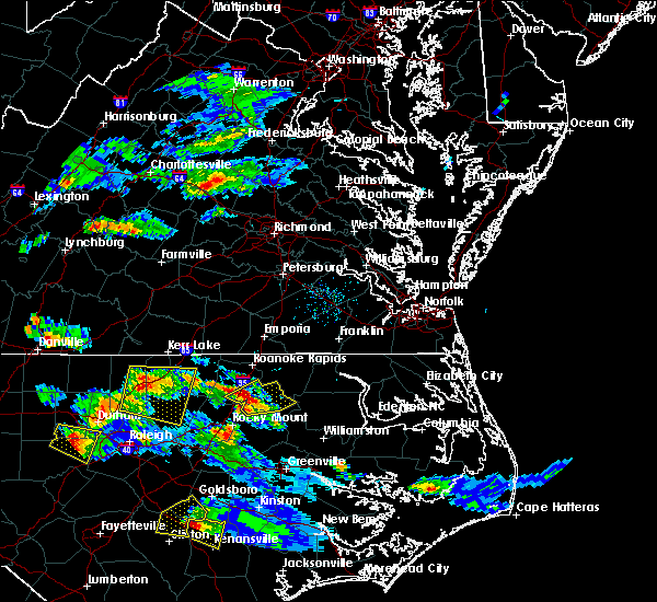 Radar Image for Severe Thunderstorms near Halifax, NC at 4/28/2016 7:30 PM EDT
