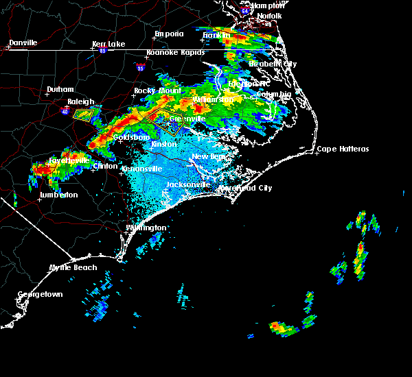 Radar Image for Severe Thunderstorms near Winterville, NC at 4/28/2016 9:58 PM EDT