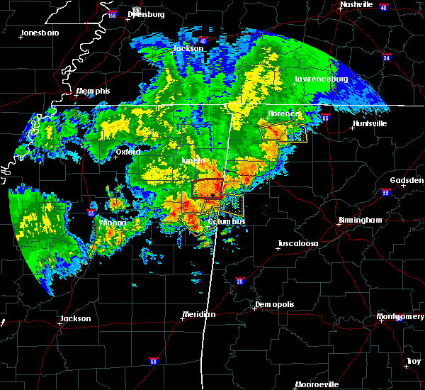 Radar Image for Severe Thunderstorms near Hamilton, MS at 4/29/2016 4:10 PM CDT