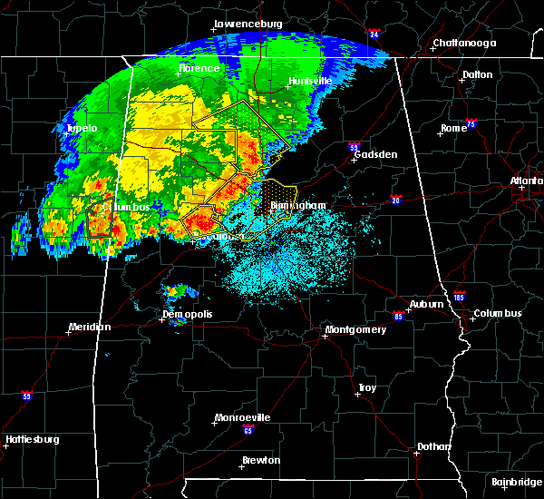 Radar Image for Severe Thunderstorms near Hartselle, AL at 4/29/2016 5:47 PM CDT