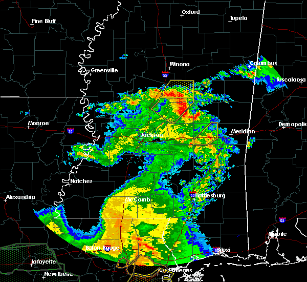 Radar Image for Severe Thunderstorms near Newton, MS at 5/1/2016 11:11 AM CDT