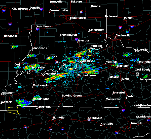 Radar Image for Severe Thunderstorms near Henryville, IN at 5/1/2016 2:52 PM EDT