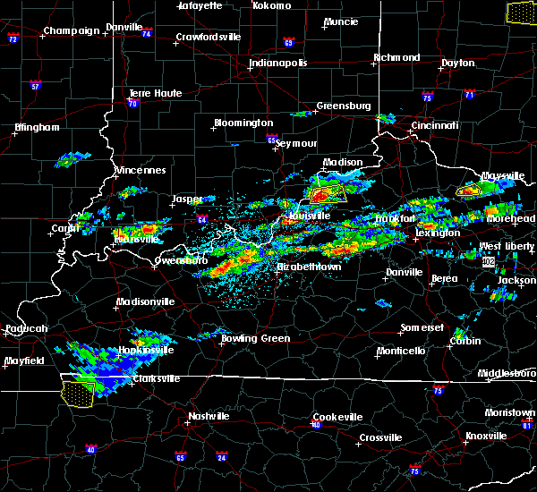 Radar Image for Severe Thunderstorms near Westport, KY at 5/1/2016 3:36 PM EDT