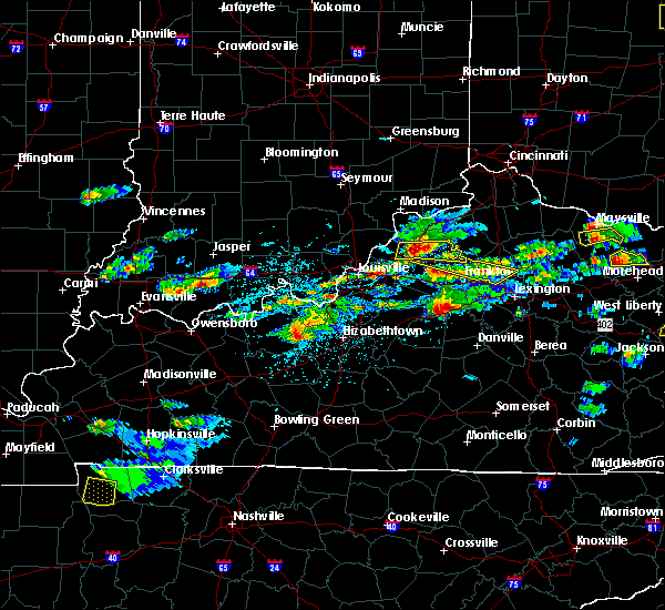 Radar Image for Severe Thunderstorms near Frankfort, KY at 5/1/2016 3:52 PM EDT