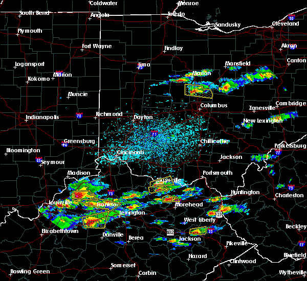 Radar Image for Severe Thunderstorms near Aberdeen, OH at 5/1/2016 3:56 PM EDT
