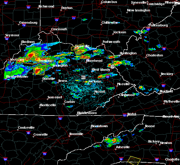 Radar Image for Severe Thunderstorms near Auxier, KY at 5/1/2016 4:07 PM EDT