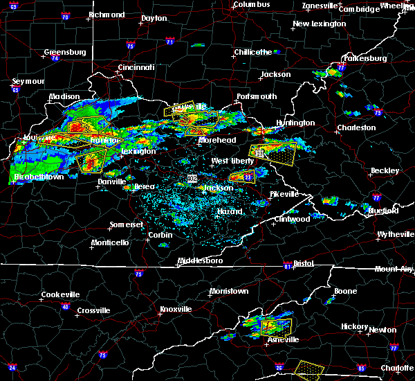 Radar Image for Severe Thunderstorms near Auxier, KY at 5/1/2016 4:14 PM EDT