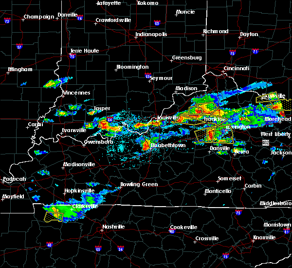 Radar Image for Severe Thunderstorms near Frankfort, KY at 5/1/2016 4:18 PM EDT