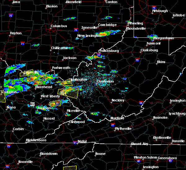 Radar Image for Severe Thunderstorms near Huntington, WV at 5/1/2016 4:22 PM EDT