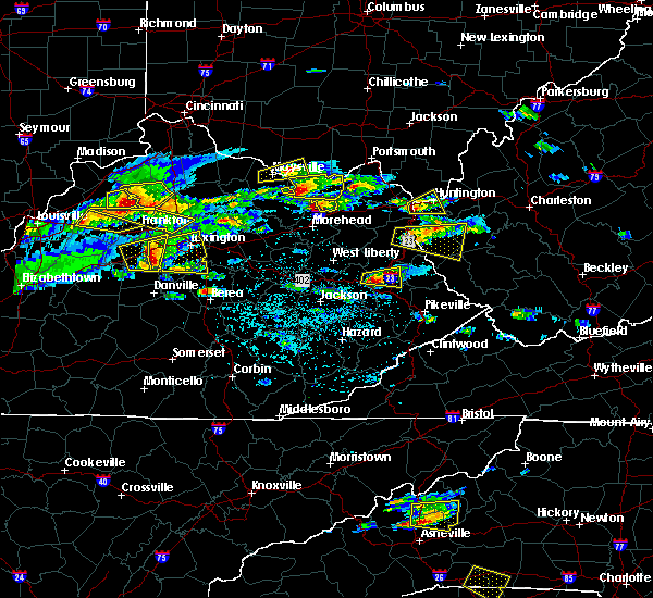Radar Image for Severe Thunderstorms near Versailles, KY at 5/1/2016 4:21 PM EDT