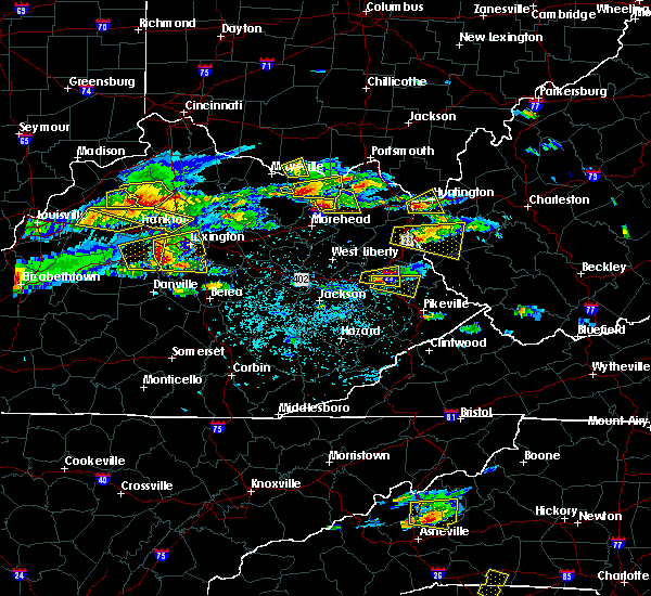 Radar Image for Severe Thunderstorms near Prestonsburg, KY at 5/1/2016 4:27 PM EDT