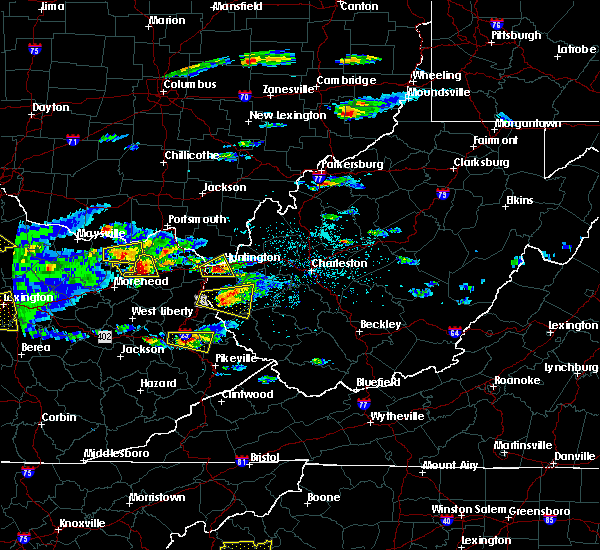 Radar Image for Severe Thunderstorms near Huntington, WV at 5/1/2016 4:40 PM EDT