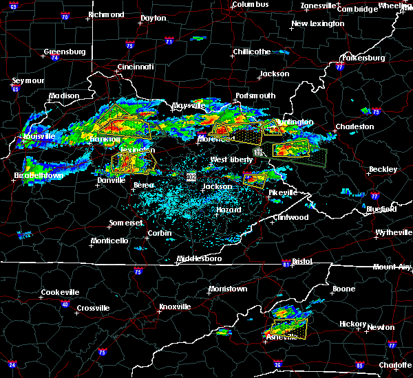 Radar Image for Severe Thunderstorms near Grayson, KY at 5/1/2016 4:54 PM EDT