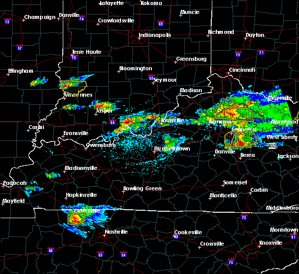Radar Image for Severe Thunderstorms near Utica, KY at 5/1/2016 4:59 PM EDT
