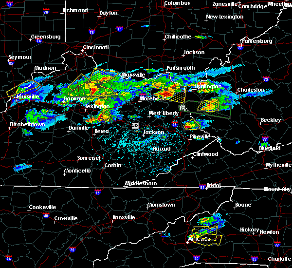 Radar Image for Severe Thunderstorms near Kermit, WV at 5/1/2016 5:15 PM EDT