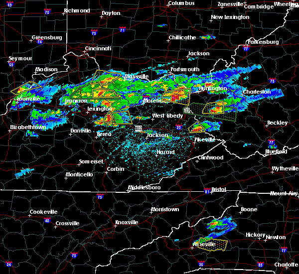 Radar Image for Severe Thunderstorms near Jeffersonville, KY at 5/1/2016 5:22 PM EDT