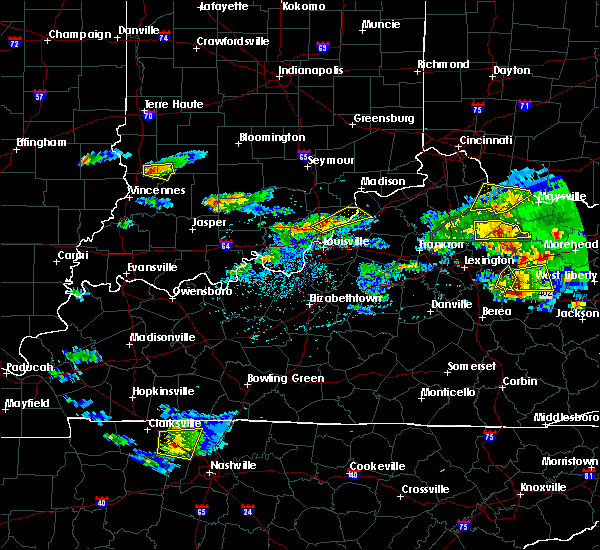 Radar Image for Severe Thunderstorms near Jeffersonville, IN at 5/1/2016 5:25 PM EDT