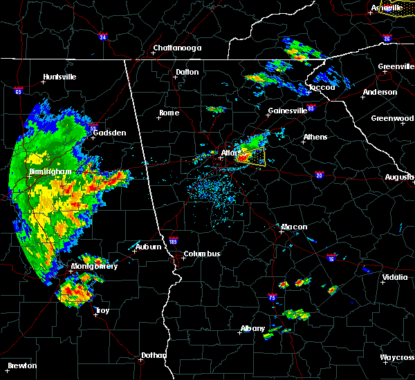 Radar Image for Severe Thunderstorms near Stone Mountain, GA at 5/1/2016 5:28 PM EDT