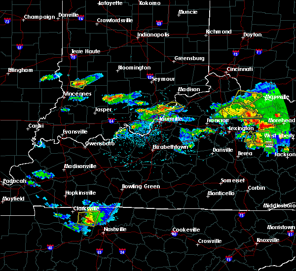 Radar Image for Severe Thunderstorms near Jeffersonville, IN at 5/1/2016 5:31 PM EDT