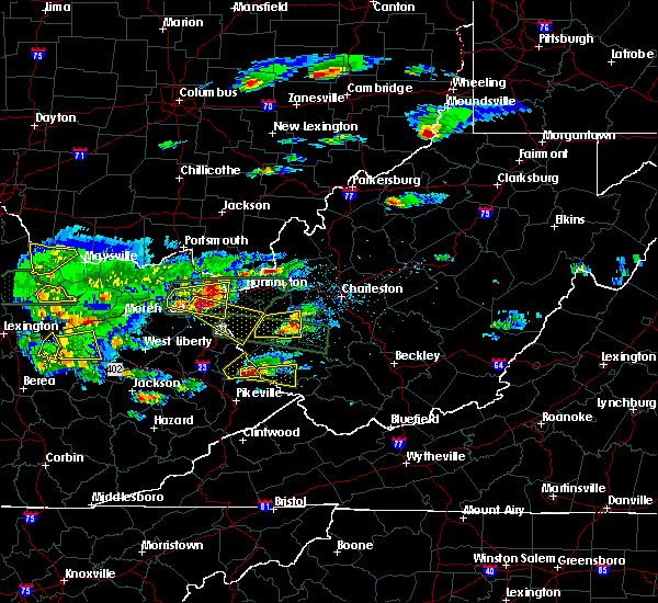 Radar Image for Severe Thunderstorms near Williamson, WV at 5/1/2016 5:32 PM EDT