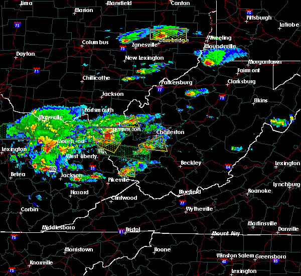 Radar Image for Severe Thunderstorms near Williamson, WV at 5/1/2016 5:54 PM EDT