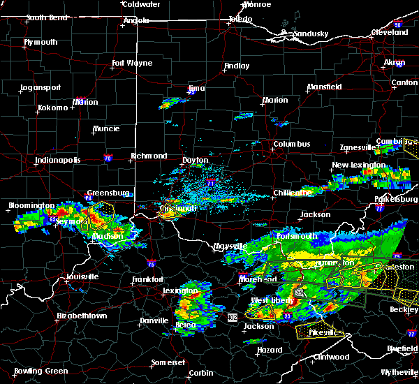 Radar Image for Severe Thunderstorms near Cincinnati, OH at 5/1/2016 7:01 PM EDT