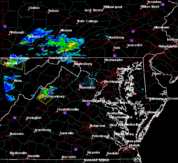 Radar Image for Severe Thunderstorms near Harrisonburg, VA at 5/1/2016 7:04 PM EDT