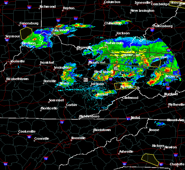 Radar Image for Severe Thunderstorms near Auxier, KY at 5/1/2016 7:07 PM EDT
