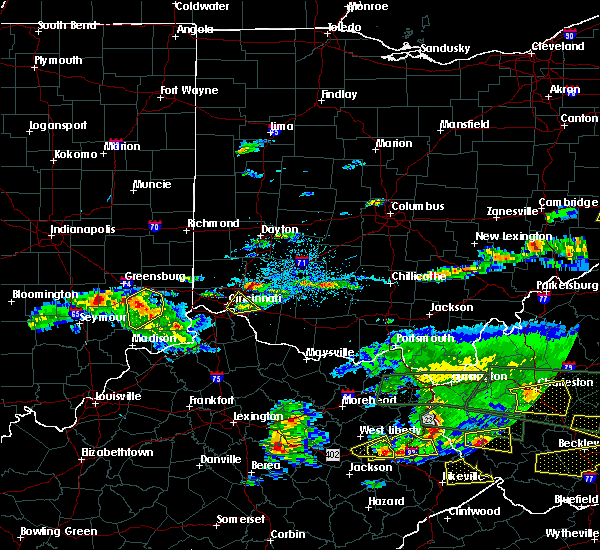 Radar Image for Severe Thunderstorms near Cincinnati, OH at 5/1/2016 7:10 PM EDT
