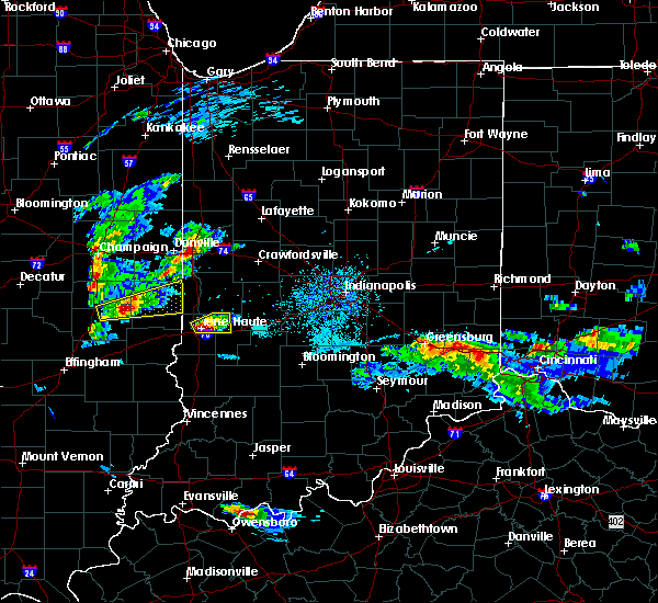 Radar Image for Severe Thunderstorms near Terre Haute, IN at 5/1/2016 7:42 PM EDT