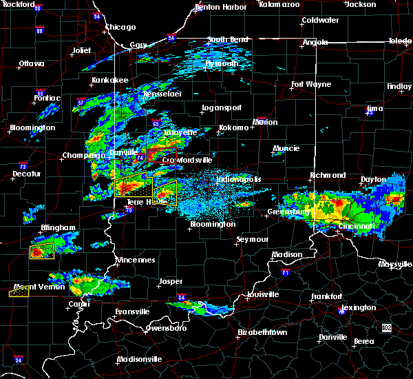 Radar Image for Severe Thunderstorms near Crawfordsville, IN at 5/1/2016 8:34 PM EDT