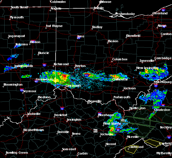 Radar Image for Severe Thunderstorms near Jeffersonville, OH at 5/1/2016 8:35 PM EDT