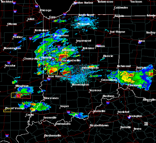 Radar Image for Severe Thunderstorms near Rosedale, IN at 5/1/2016 8:49 PM EDT