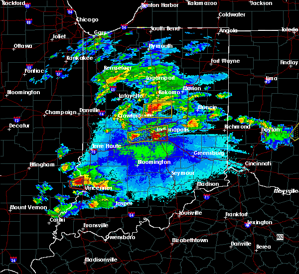 Radar Image for Severe Thunderstorms near Indianapolis, IN at 5/1/2016 9:41 PM EDT