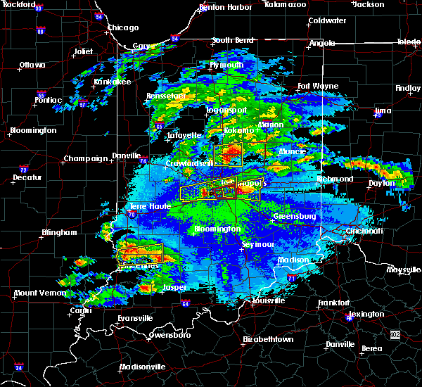 Radar Image for Severe Thunderstorms near Indianapolis, IN at 5/1/2016 9:58 PM EDT