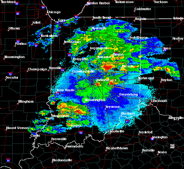 Radar Image for Severe Thunderstorms near Greenfield, IN at 5/1/2016 10:18 PM EDT