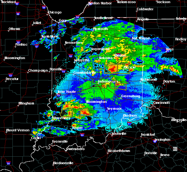 Radar Image for Severe Thunderstorms near Frankton, IN at 5/1/2016 10:27 PM EDT