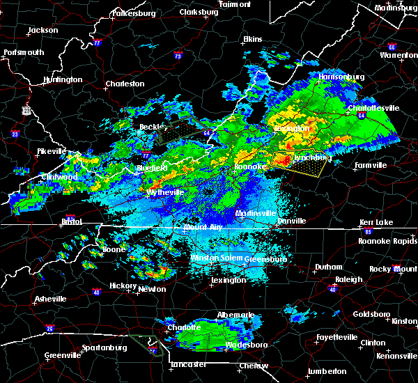 Radar Image for Severe Thunderstorms near Timberlake, VA at 5/1/2016 10:39 PM EDT