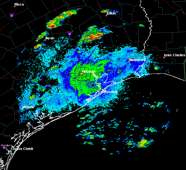Radar Image for Severe Thunderstorms near Cape Royale, TX at 5/1/2016 11:02 PM CDT