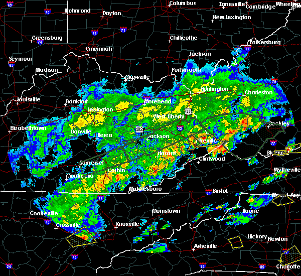 Radar Image for Severe Thunderstorms near Pikeville, KY at 5/2/2016 3:48 PM EDT