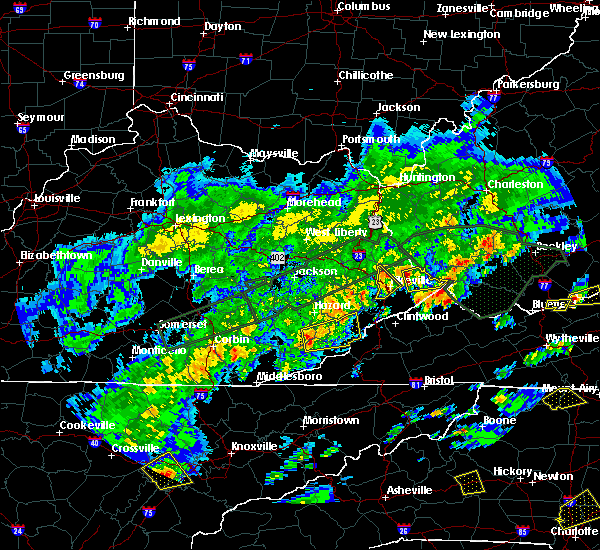 Radar Image for Severe Thunderstorms near Pikeville, KY at 5/2/2016 3:54 PM EDT